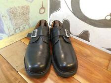 Nunn Bush Black Leather Monk Strap Loafers Men's 11M