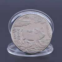 Year of the Pig Silver Plated Chinese Zodiac Souvenir Coin Collectibles GiftsPLV