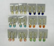 Wholesale Jewelry Lot 12 Assorted Dangle Drop Pierced Earrings Spring Colors NEW