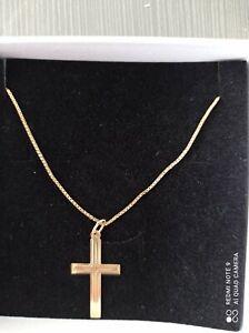 Goldkette mit Kreuzanhänger 750er Gold 50cm