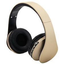 Wireless Earphone Headset FM Stereo Headphone Mic For Samsung PC