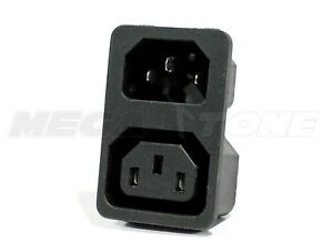 (1 PC) 10A/250VAC IEC320 C13/C14 Snap-In Male/Female Plug Connector USA SELLER!