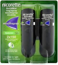 4 x Nicorette QuickMist Duo Freshmint 1mg Mouth Spray Nicotine (8 x 150 Sprays)