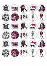 30 x Monster High Edible  Cupcake Toppers