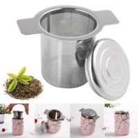 Stainless Steel Mesh Tea Infuser Cup Strainer Loose Leaf Filter with Lid