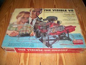 Vintage ~ 1960s Renwal Visible V8 Engine Model Kit - INCOMPLETE