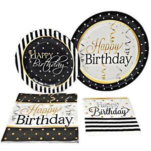 Elegant Happy Birthday Set for 8 Guests