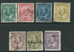 Canada Stamps 89-95 SG 173 87 Used F/VF 1903-08 SCV