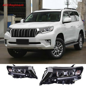 2X For Toyota Prado Headlights assembly 2018-2020 All LED Double Lens Projector