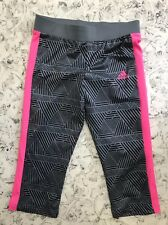 ADIDAS 3/4 Knit Pant Kurz Hose SHORT Sporthose grau/schwarz/rosa Leggins gr.152