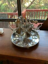 6 Piece Bar Set + Shaker + 5 PotteryBarn Martini Glasses + Serving Trey