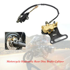 Motorcycle Hydraulic Rear Disc Brake Caliper w/Master Cylinder Brake Pads System