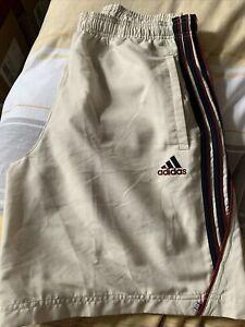 "Adidas Lined Shorts Cream Size 32"" Waist"