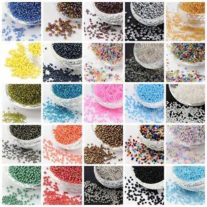 50g (3300 beads) Glass Seed Beads 11/0 2mm