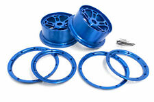Rovan LT Truck 1/5 Scale CNC Blue Aluminum Rims Fits LOSI 5IVE-T King Motor X2