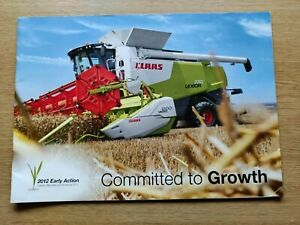 CLAAS LEXION & TUCANO COMBINES COLOUR FARMING TRACTOR BROCHURE PRE USED IN VGC