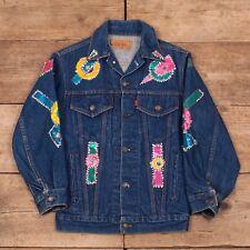 Womens Vintage Levis Red Tab 70s Customised Denim Trucker Jacket Medium 8 R8764