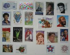 US # FOREVER USED STAMPS lot of 20 off paper