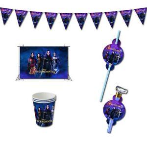 Descendants 3 Girls Supervillains Birthday Party Supplies Decorations Balloons