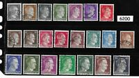Complete stamp set / Adolph Hitler / Third Reich / WWII Germany / 1941-1944