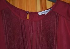 M&S  LIMITED EDITION PATTERN OFF THE SHOULDER LONG  SLEEVE TOP SIZE 16 RED MIX