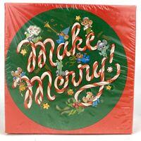 Vintage Springbok Mini Jigsaw Puzzle Make Merry Sealed 60+ Pieces Round Hallmark