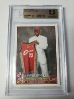 2003-04 Topps #221 Lebron James Rookie Card RC BGS QUAD 9.5 TRUE GEM - INVEST!!
