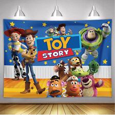 Toy Story Backdrop Kids Cowboys Birthday Cartoon Theme Party Decoration Supplies