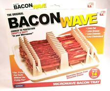 Original Bacon Wave Microwave Bacon Tray Cooks Up to 14 Slices
