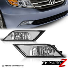 Factory Replacement Clear Fog Light Bumper Lamp L+R 2011-13 Honda Odyssey VAN
