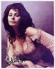 SOPHIA LOREN AUTOGRAPHED 8X10 COLOR PHOTO REPRINT (FREE SHIPPING) *