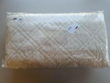 Pottery Barn Washed Velvet Silk Blend Quilt Full Queen Ivory #4385