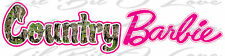 Country Barbie Camo & Hot Pink Vinyl Decal Sticker Car Auto Vehicle Camouflage