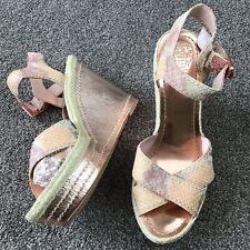 40f7a68f52 Vince Camuto VC-EDONS Platform Espadrilles Women Wedge Sandals Size 8.5 M  Snake
