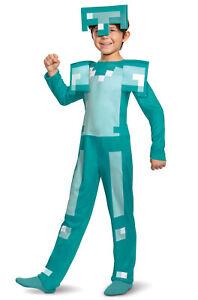 Brand New Minecraft Armor Classic Jumpsuit Child Costume