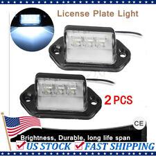 2pcs LED License Plate Tag Light Boat Rv Car Trailer Interior Step Lamp 12V 24V