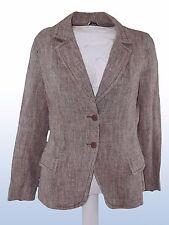 giacca donna melange marrone lino canapa MAX&CO MAX MARA IT 44 UK 12 DE 38
