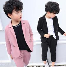 Child Boys Blazer Kids Gentleman Suit Korean Wedding Party Coat Handsome Outfits