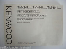 Kenwood Tm-241 / Tm-441 / tm541 (Genuino Manual sólo)....... radio_trader_ireland.