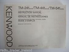 Kenwood tm-241 / tm-441 / tm541 (véritable manuel uniquement)....... radio_trader_ireland.