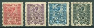 YUGOSLAVIA SHS CROATIA 1918 - INDEPENDENCE DAY '29. Listopad' MI. 51/54 NG SET