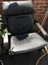 Scandi Style Bentwood Black Leather Armchair