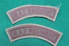 Lot de deux insignes  tissus de bras camoulfage désert  R.A.F Régiment