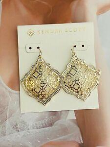 Kendra Scott Golden Drop Earrings Free Shipping