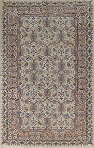 Antique Floral Oushak Oriental Turkish Area Rug Vegetable Dye Hand-knotted 6x10