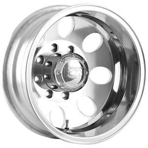 """Ion 167 Dually Rear 17x6.5 8x6.5"""" -142mm Polished Wheel Rim 17"""" Inch"""