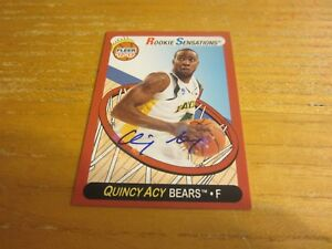 Quincy Acy Signed 2012-13 Fleer Retro Autographs #64 Card NBA Toronto Raptors