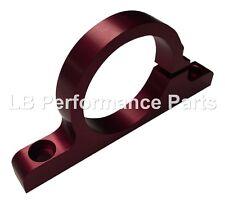 """2"""" 50mm ID Aluminium Bracket Clamp Cradle for Fuel Pump, Filter Aeromotive - Red"""