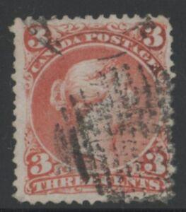 MOTON114    #25 Large Queen 3c  Canada . used
