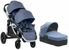 Baby Jogger City Select Twin Double Stroller Moonlight w/ Second Seat Bassinet